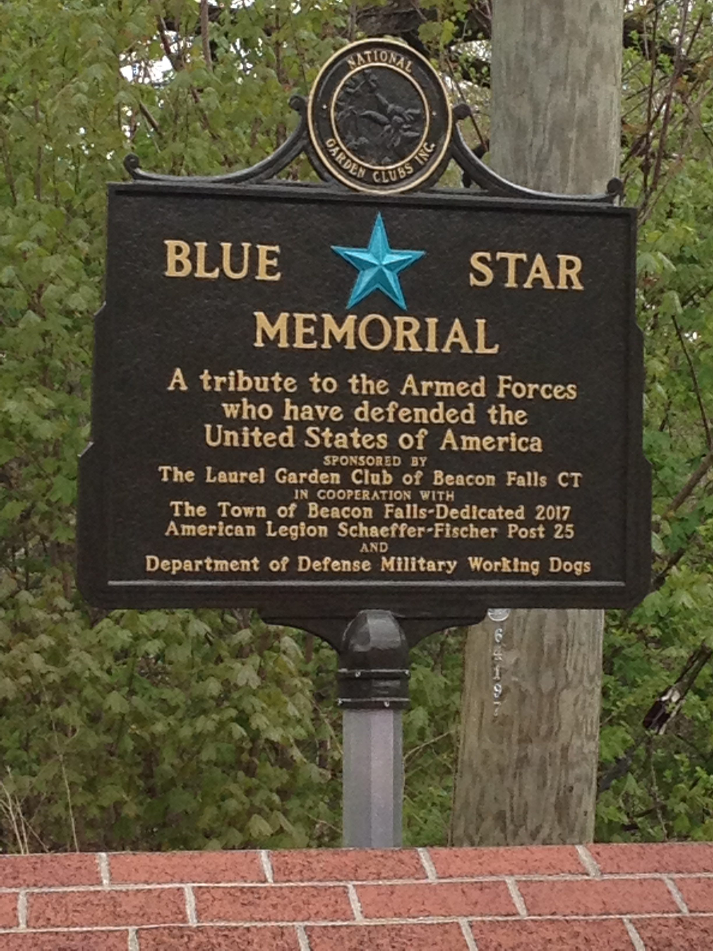 Blue Star Memorial   Federated Garden Clubs of CT